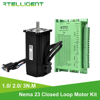 Rtelligent Nema 23 2N.M and 3N.M Closed Loop Stepper Motor with Stepper Driver Kit Nema23 Easy Servo Stepper Motor with Encoder цена 2017