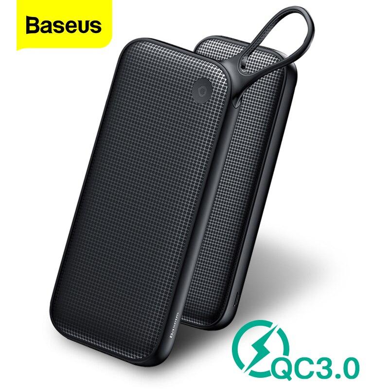 Baseus 20000mAh carga rápida 3,0 banco de potencia QC3.0 de carga rápida Powerbank 20000 cargador de batería externo para Xiaomi mi Poverbank