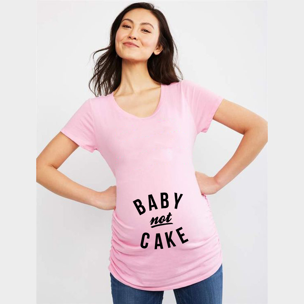 Maternity Baby Not Cake Funny Pregnancy Tees for Pregnant Announcement Funny T Shirt 2020 Brand New Women Pregnancy Clothes