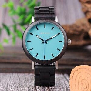Image 5 - Promotion Sale BOBOBIRD Watch Wooden Men Women Quartz Wristwatches Christmas Gift Best Gift in Box montre homme