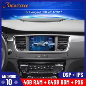 Newest Android 10 Car DVD player GPS navigation radio Stereo For PEUGEOT 508 2011 2012 2013-2017 head UNIT auto radio multimedia