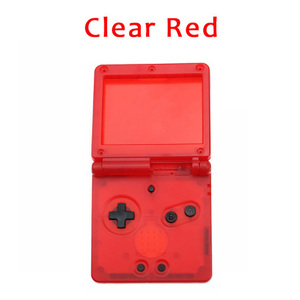 Image 3 - 1 مجموعة لون واضح شفاف ل GBA SP نينتندو d Gameboy presancesp كامل الإسكان غطاء حماية استبدال الإسكان الكامل أزرار تشبه الأصداف