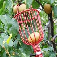 Cesta profunda para jardín, recolector de frutas con cabeza, práctico recolector de frutas, dispositivo de recolección de melocotón y manzana