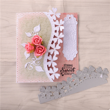 YaMinSanNiO Flower Border Lace Frame Metal Cutting Dies for DIY Scrapbooking Craft Cards Embossing Die Four-leaf Clover Diecut large border punch flower knot embossing machines perfect for handmade cards craft height about 4cm 1 57inch