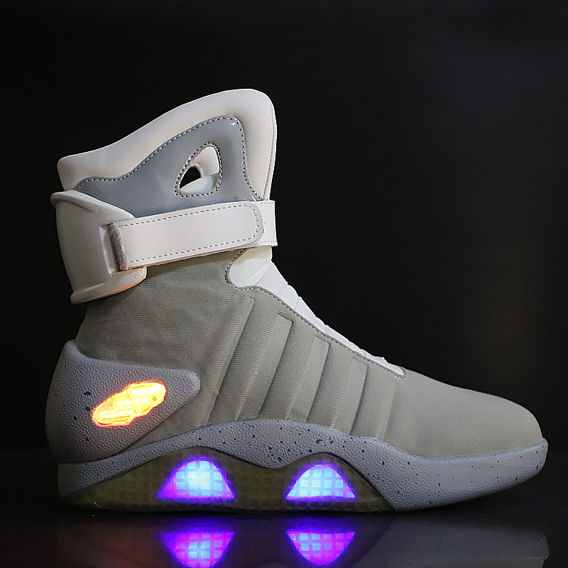 Running Shoes Men Led Light Sneakers High Quality Back To The Future Luminous Glowing Shoes Men High Top Male Athletic Sneakers
