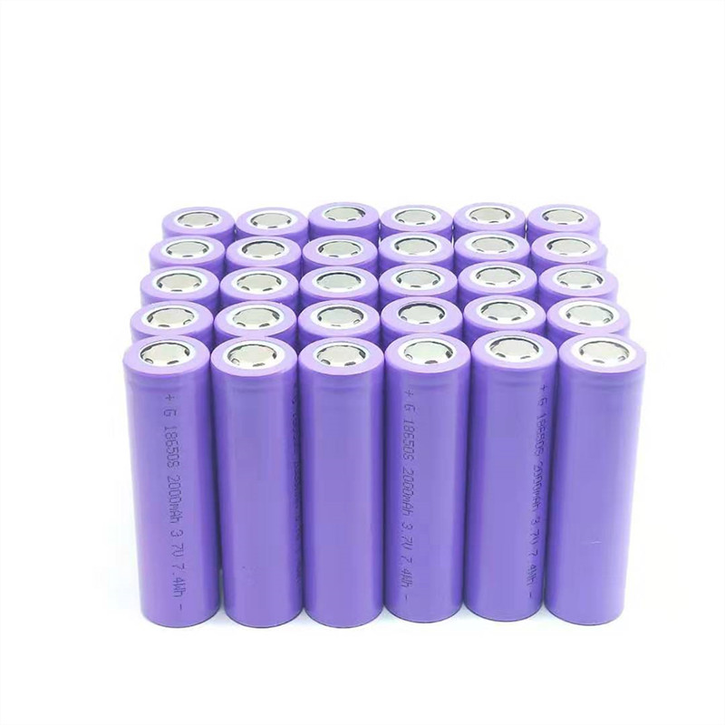 High Quality 40PCS <font><b>18650</b></font> battery 3.7V 2000mAh Lithium-ion Rechargeable Battery For Flashlights, Power bank, etc. image
