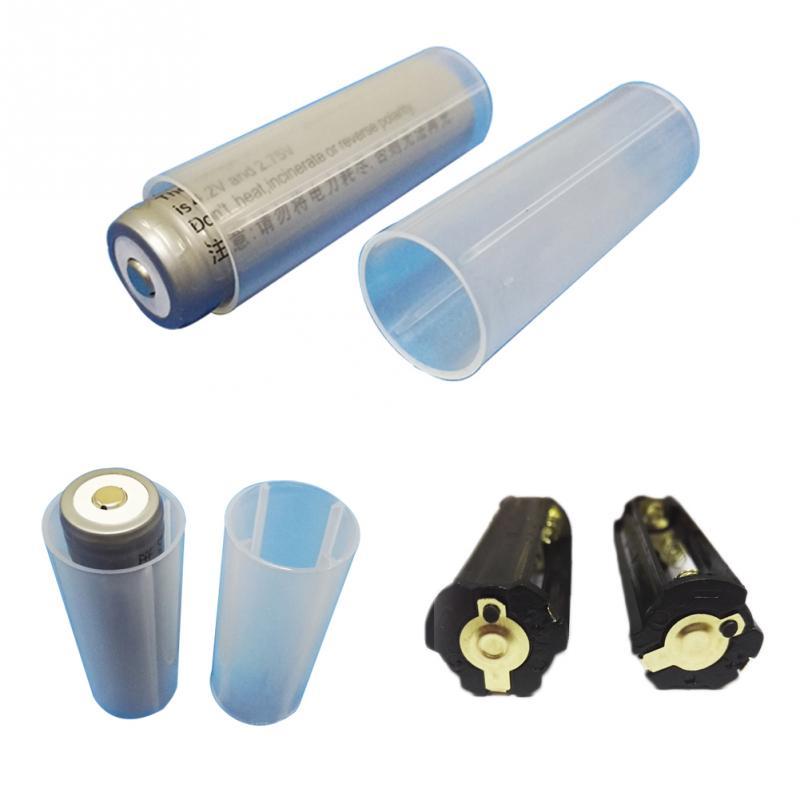 3Pcs 18650 Battery Tube Holder Plastic Case Adaptor For Flashlight Torch Lam TSK