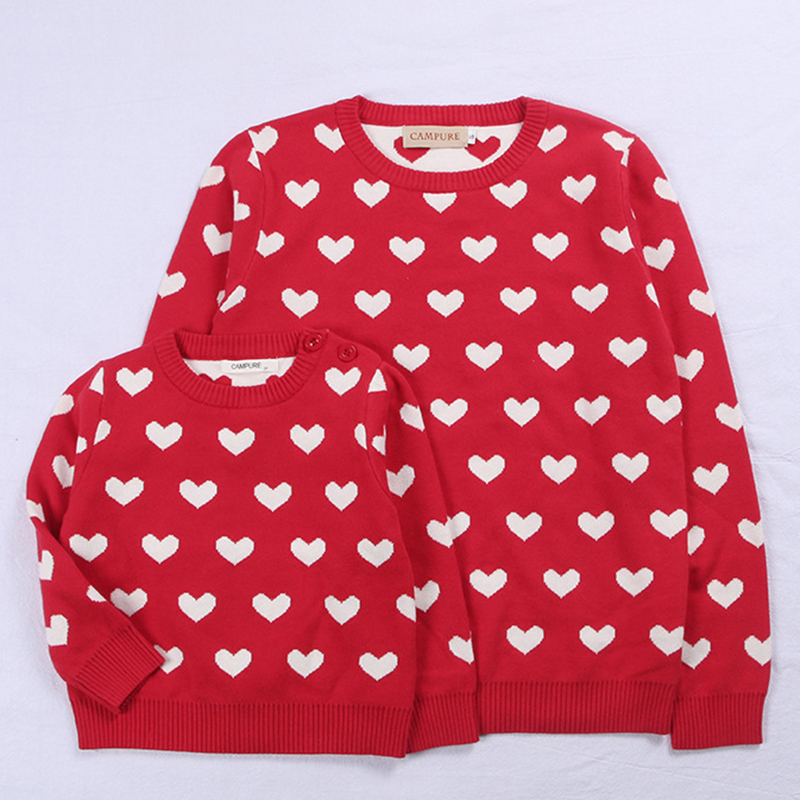 Parent-child Outfits Autumn Family Look Sweaters Family Matching Clothes Mother Daughter Son Pullover Women's Baby Warm Coats
