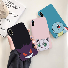 IRONGEER Cartoon Jigglypuff Gengar Squirtle Soft Phone Couple Case for