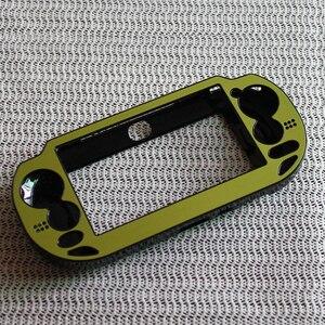 Image 3 - البلاستيك + الألومنيوم غطاء واقٍ مزخرف لهاتف آيفون غطاء حماية الجلد ل PSV PS Vita 1000