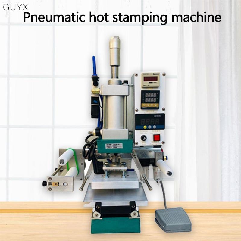Pneumatic Hot Stamping Machine Sliding Table Leather Bronzing Press Machine LOGO Business Card Wood Branding Machine