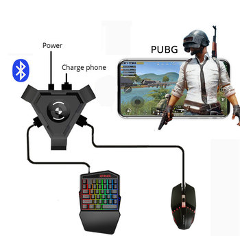 PUBG Mobile Gamepad Controller Gaming Keyboard Mouse Converter For Android ios Phone IPAD PC Bluetooth 4.1 Adapter Plug & Play