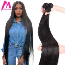 Straight Brazilian Human Hair Bundles Extension Weave 8 to 30 40 inch non remy Natural Extensions Short Long Hair 1 3 4 Pieces