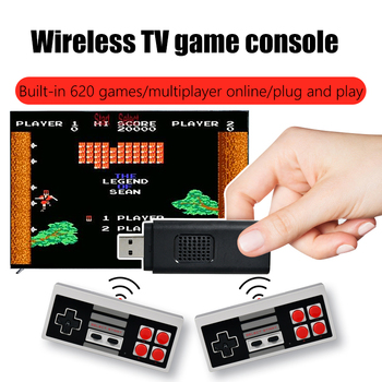 Mini TV Games Console Retro 8 Bit Player Console Video Game Built-In 620 Classic Games Arcade Gaming HD Machine for USB 1