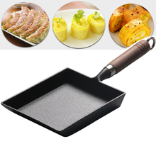 Egg Fryer/non-Stick pan Rectangular egg Fryer Mini Cast Iron