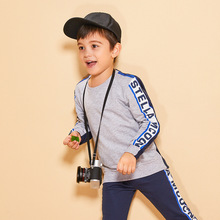 JENYA 2019 New Hot Children Clothing Sets Baby Sport Letter Print Kids Students Outfit Ses Casual Sanitary Trousers Suit