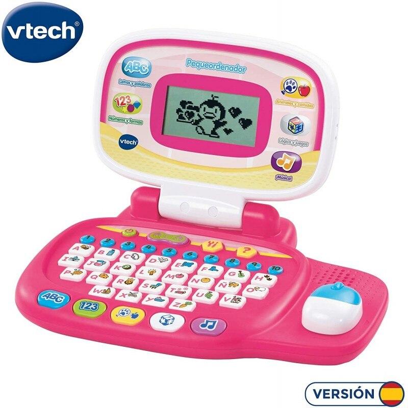 VTech Pequeordenador, ordenador infantil con más de 20 actividades que enseñan letras, números, animales, lógica (80-155457)