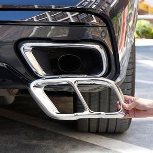 Image 1 - Für BMW X5 X7 G05 G07 2019 2021 Edelstahl Silber/Schwarz Auto Schwanz rohre Auspuffrohr Schalldämpfer abdeckung Aufkleber Auto Zubehör