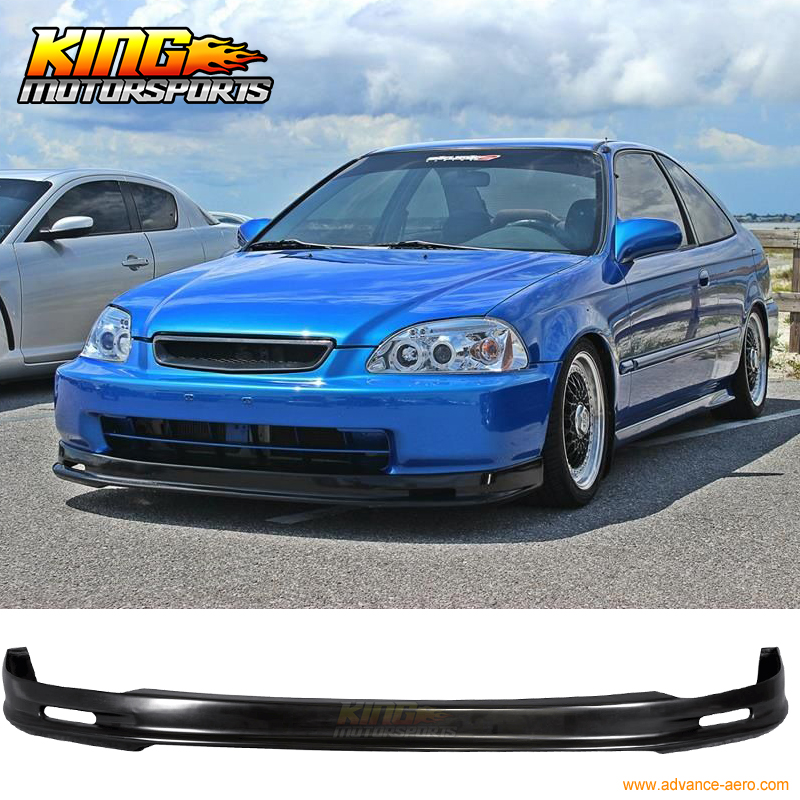 Fit 94-95 Honda Accord PP ABS Mu-gen Style Front Bumper Lip + TR Style Grill