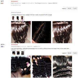 Image 5 - Monika gevşek derin dalga saç 3 demetleri anlaşma brezilyalı saç örgü demetleri olmayan Remy İnsan saç demetleri çift örgülü saç uzantıları