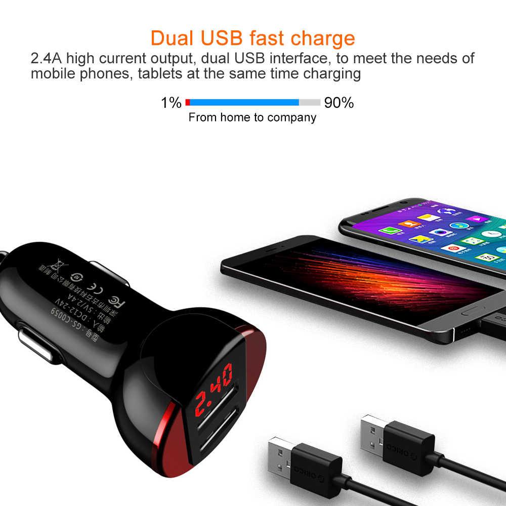 אוניברסלי 5 V/3.1A פלט USB כפול מטען לרכב עבור Huawei P10 בתוספת Mate 9 לxiaomi Mi5 Mi6 מטען לרכב LED מתח ניטור