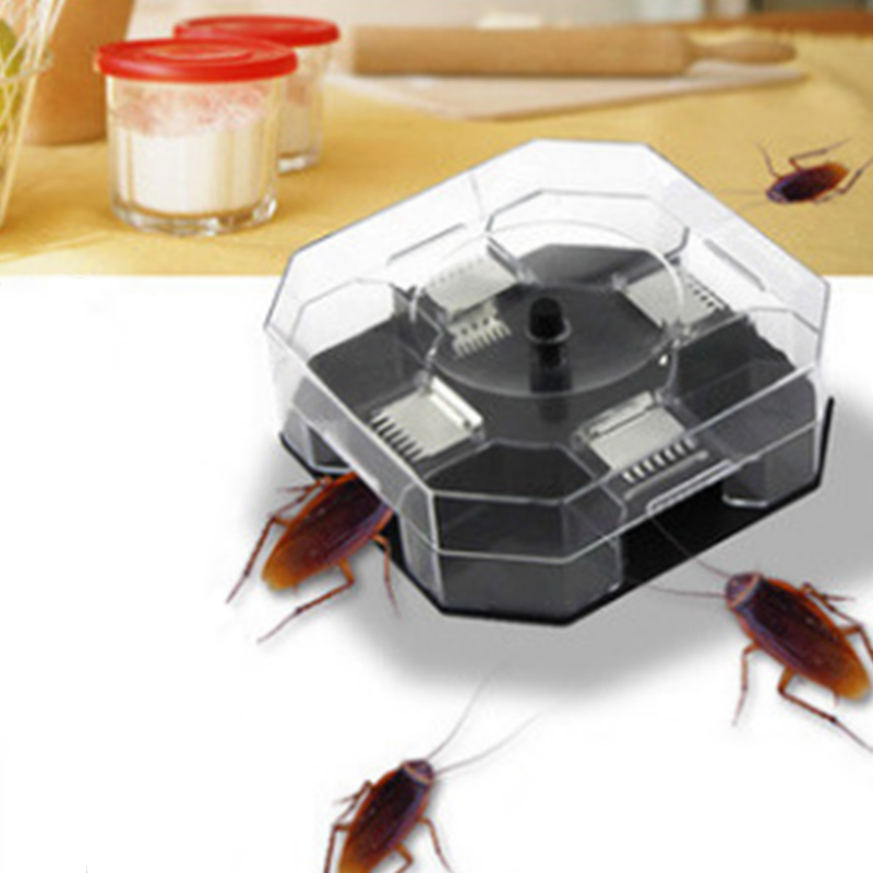Home Supplies Useful Cockroach Traps Box Reusable Cockroach Bug Roach Catcher Cockroach Killer Bait Traps Pesticide For Kitchen
