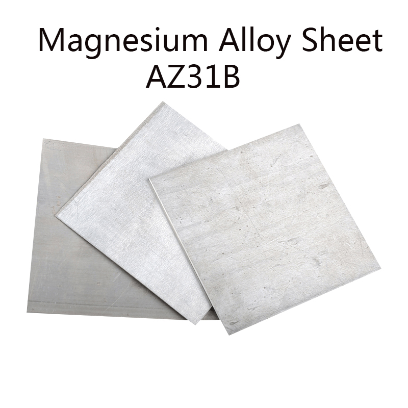 AZ31B Magnesium Alloy Sheet Mg Plate Flat Thick 1 2 3 Mm Electroplating Anodes Experiment Anode CNC Machine Mould Metal Process