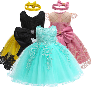 Newborn Baby Girl 1 Year Birthday Dress lace Tulle Toddler Girl Christening Dress Infant Princess Party Sweet dress(China)