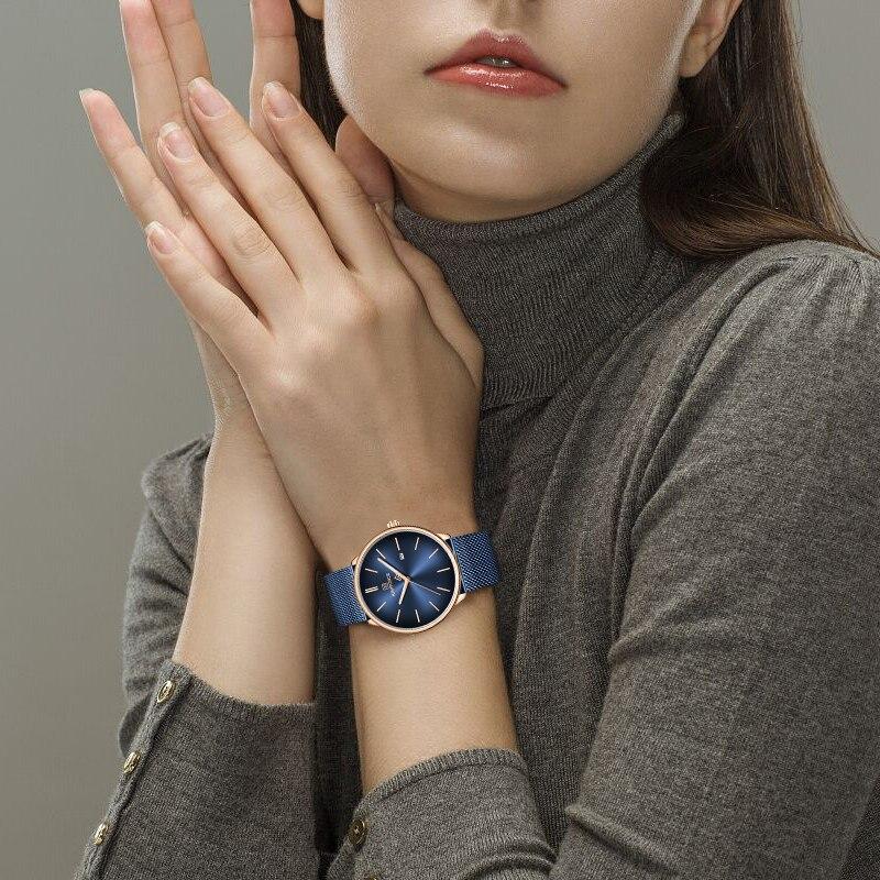 Couple montres NAVIFORCE Top marque en acier Quartz montre-bracelet pour hommes et femmes étanche Date mâle horloge cadeau Relogio Feminino - 5