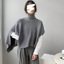 LANMREM Korean thickened shawl style sweater 2020 autumn winter new kintwear oversize