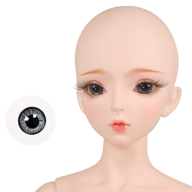 Eyeball 14mm Glass Material Green Blue Eyes Suitable For 1/3 1/4 Doll 6