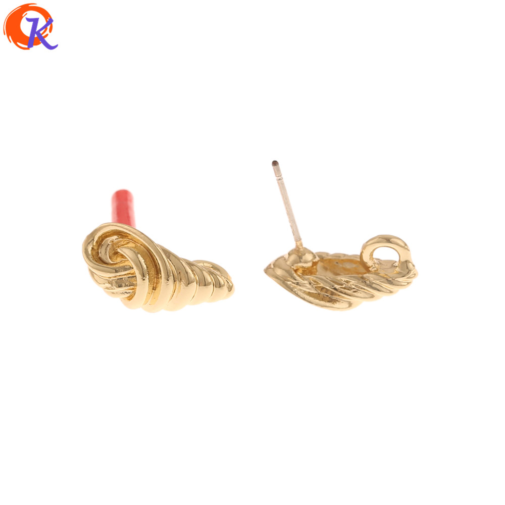 Cordial Design 100Pcs 8*16MM Jewelry Accessories/Earrings Stud/Hand Made/Knot Shape/Earring Findings/DIY Parts/Jewelry Making
