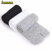 New Japanese Men and Women Summer Bamboo Fiber Two Finger Socks Black Kimono Flip Flop Sandal Split Ninjia White Tabi Toe Socks(China)