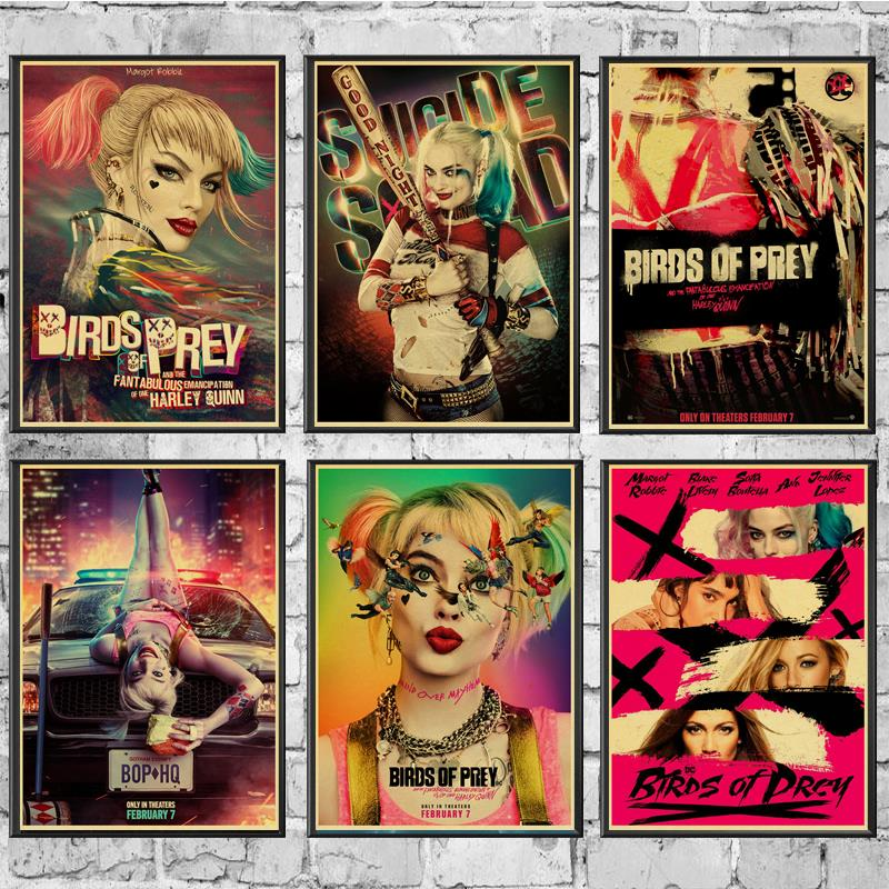 Vintage Posters Birds Of Prey Harley Quinn Poster Decor Kraft Wall Paper High Quality Painting For Home/ Wall/Room/Bar Decor