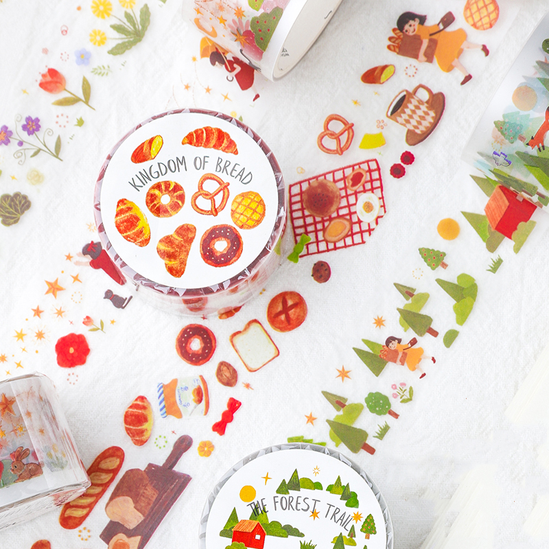 Mohamm Fairy Tale Series Tree Flower Washi Tape Japanese Stationery Kawaii Masking Tape Cute Scrapbooking Girl Decoration School