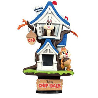 Disney Genuine Summer Theme Series Chip 'n' Dale Tree House Stitch Surf Donald Duck Houseboat Scenes Statue Decoration M4644