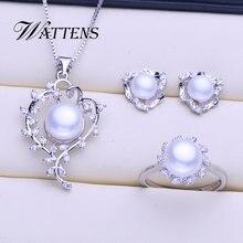 Набор из натурального жемчуга ювелирные наборы ожерелье пресноводного