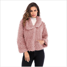 Women thermal jacket wool faux fur coat Female jacket winter jacket cardigan hoodie jacket Blouson women's S-3XL