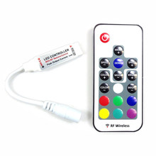 Mini RF Colorful Colorful 17 keys remote controlB port RGB LED strip light controller for TV's PC(China)