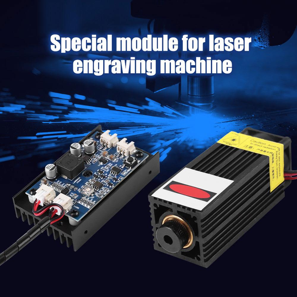 EU/US Plug Powerful 450nm 15w Laser Head Laser Module  For CNC Laser Engraving Machine And Lasers Cutter With PWM