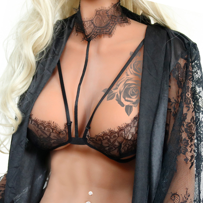 Sexy Bra Fashion Bralette Top <font><b>Staniki</b></font> <font><b>Damskie</b></font> Push Up Brassiere Femme Women Enchanting Lace Lingerie Brassiere Underwear HB147 image