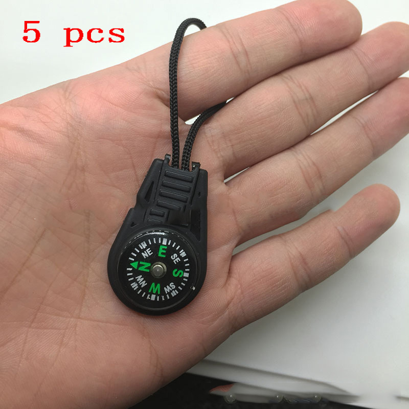 Multifunction Military Camping Hiking Survival Tool Compass Thermometer Whistle