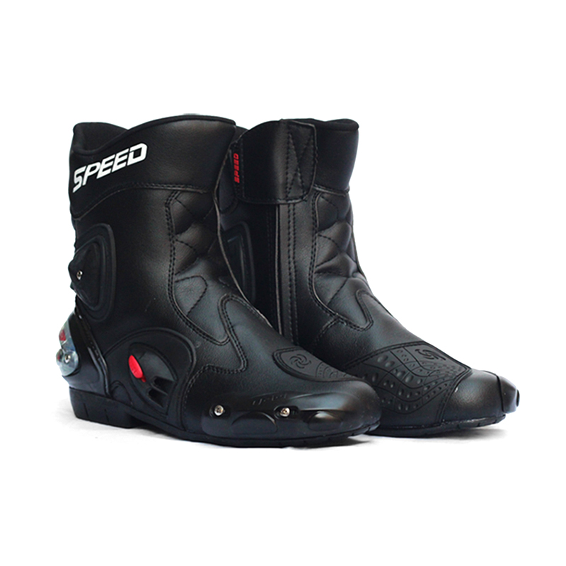 NEW Motorcycle middle calf boots Motorbike Equipment climbing Hiking riding shoes Speed LOCOMOTIVE Protective Gear racing boots