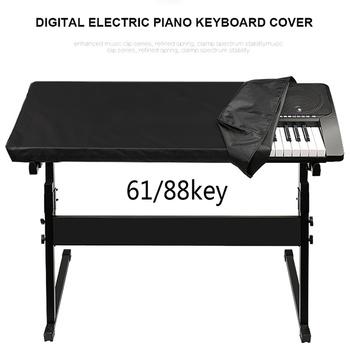 Wodoodporne elektroniczne pianino cyfrowe Cover pyłoszczelna trwała składana na 61 88-key Dirt-Proof Protector pokrowce na fortepian na scenie tanie i dobre opinie CN (pochodzenie) S78000029 Piano Keyboard Cover Nowoczesne Poliester bawełna