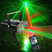 Dj discoteca palco luz laser projetor strobe luzes de festa iluminação palco com controle remoto para disco party club ktv natal