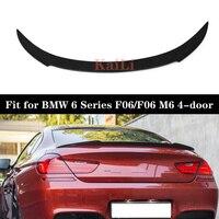 For BMW 6 Series F06 M6 4-Door Sedan Carbon Fiber Gloss Black Spoiler Back Boot Lip Wing 2012-2016