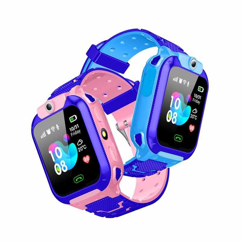 AISHI Q12B enfant montre intelligente LBS Location SOS caméra bébé téléphone 400mAh voix Chat Mobile Smartwatch Support App SeTracker2 VS Q12