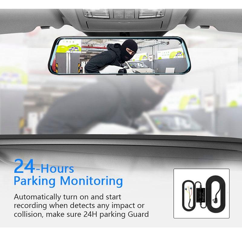 1440P Автомобильное зеркало заднего вида, Автомобильное видео зеркало FHD 12 '', авто рекордер, супер ночное видение, Автомобильный видеорегистратор, зеркало заднего вида, тире камера - 5