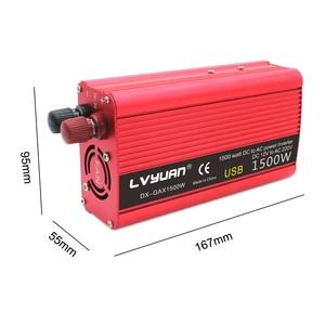Автомобильная мощность 1500 Вт постоянного тока 12 В переменного тока 220 В портативный автомобильный инвертор зарядное устройство конвертер а...