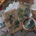 Farn blatt pilz schwefelsäure Material Papier Junk Journal Planer Scrapbooking Vintage Dekorative DIY Handwerk Hintergrund Papier